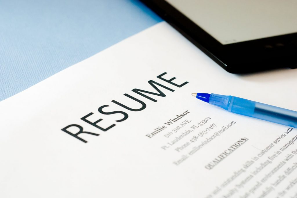 Resumes create your first impression