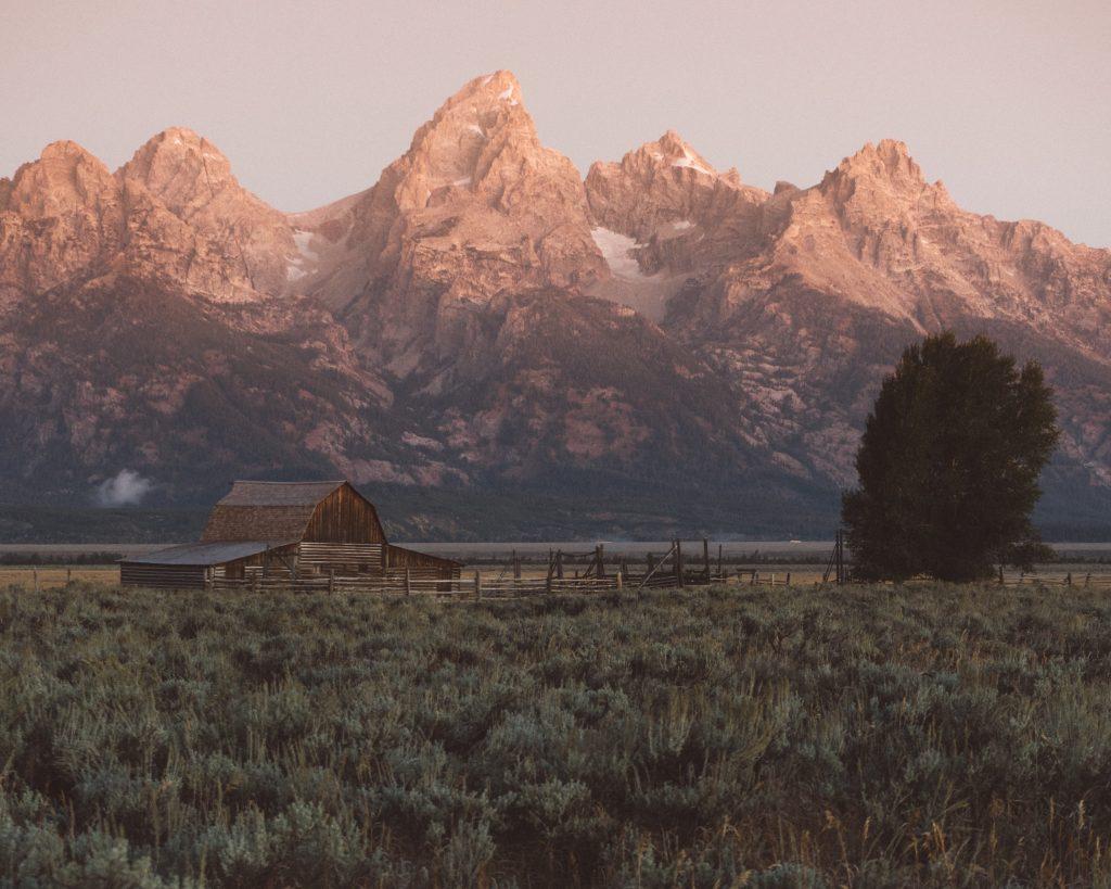 Mormon Row at the Grand Teton National Park
