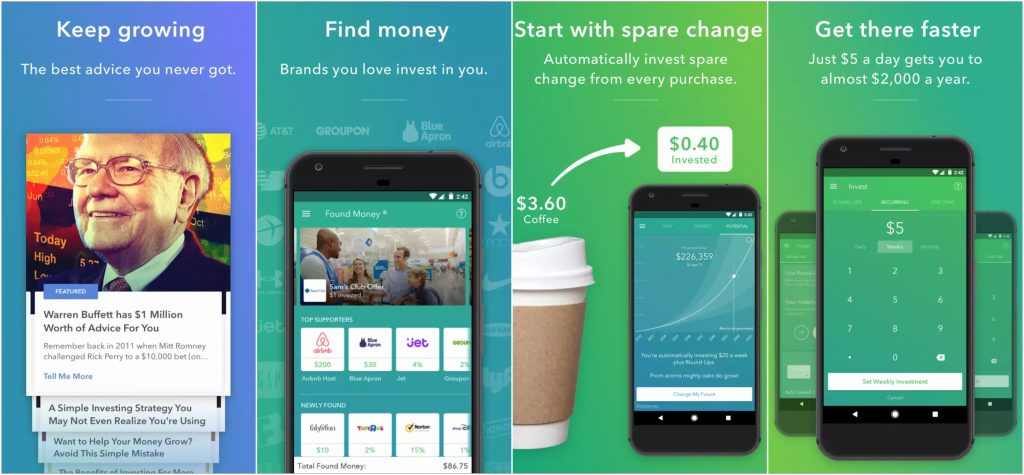 Acorns is a great app to start investing.
