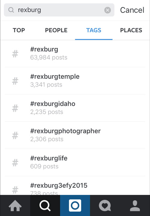 Instagram-search-tags